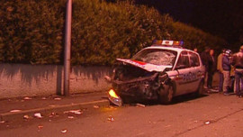 Le véhicule de police impliqué dans un accident avec un deux-roues à Villiers-le-Bel