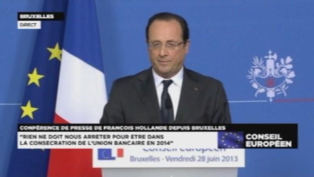 François Hollande le 28 juin 2013.