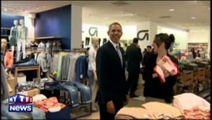 Obama fait du shopping pour Michelle et ses filles chez Gap