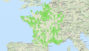Carte de France des stations en réapprovisionnement