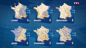Carte météo semaine du 15 février 2016