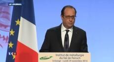 """Hollande : """"les trois engagements que j'avais pris pour Florange sont tenus"""""""