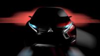 Image teaser du concept-car Mitsubishi XR-PHEV prévu pour le Salon de Genève 2015