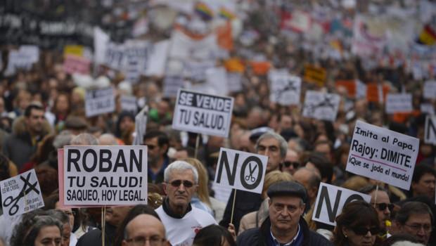 Manifestation à Madrid pour défendre la santé publique (17 février 2013)