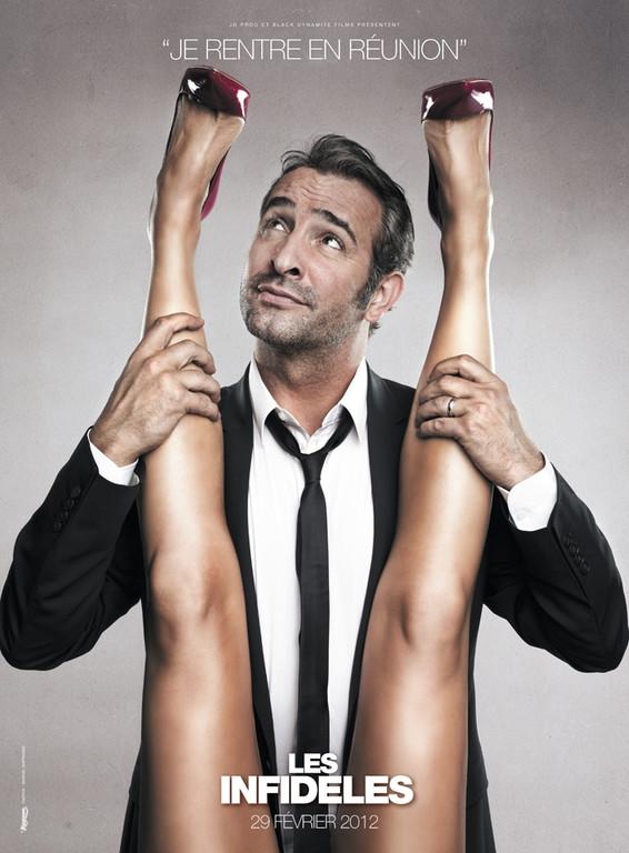 Affiche teaser Les Infidèles avec Jean Dujardin et Gilles Lellouche