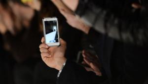 fashion week smartphone défilé