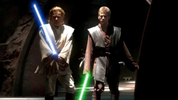 Hayden Christensen et Ewan McGregor dans Star Wars - Episode II : L'Attaque des Clones