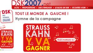 La Une du site de Dominique Strauss-Kahn le mercredi 4 octobre 2006