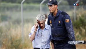 """Le 13 heures du 26 juillet 2013 : Espagne: le conducteur du train """"en garde �ue"""" - 197.36889053344726"""