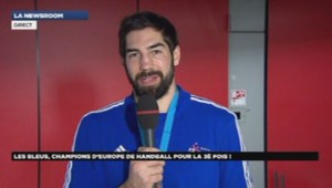 Nikola Karabatic, champion d'Europe de handball 27/01/2014