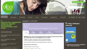 Aperçu du site web de l'Afpa