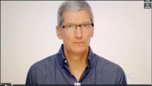 Capture d'écran de la vidéo de Tim Cook envoyée aux salariés d'Apple