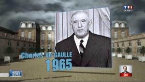 De Gaulle - Hollande: les 1res déclarations des tout nouveaux présidents