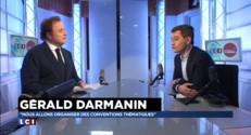 """FN et PS, """"Dupond et Dupont"""" selon Gérald Darmanin"""