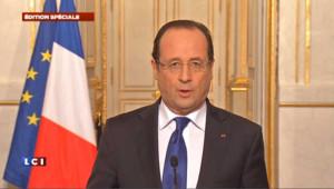 """Hollande: la France n'a pas d'autre but que la lutte contre le terrorisme"""""""