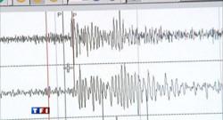 L'onde d'un séisme visible sur un sismographe.