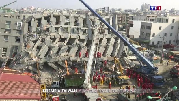Séisme à Tainan : à la recherche des survivants