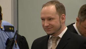 L'extrémiste norvégien Anders Behring Breivik au premier jour de son procès (16 avril 2012)