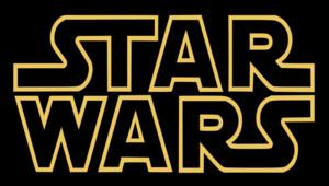 Le logo de la sécèbre franchise Star Wars