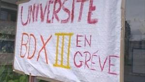 TF1/LCI université de Bordeaux en grève contre le CPE