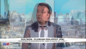 """Un danger de sortir de la zone euro ? """"La France se casse la figure maintenant"""" lance Philippot"""
