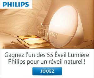 Jouez et gagnez l'un des 55 Eveil Lumière Philips