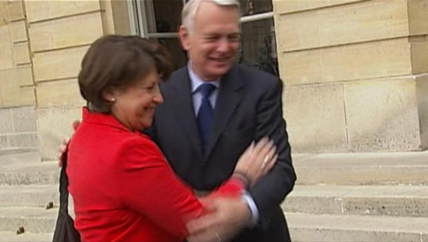 Martine Aubry et Jean-Marc Ayrault le 18 mai 2012 à Matignon