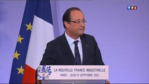 """Le 13 heures du 12 septembre 2013 : Hollande : une politique industrielle """"pragmatique"""" - 701.1001291503907"""