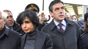 Rachida Dati et François Fillon à Roanne en janvier 2009