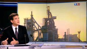 Arnaud Montebourg invité du 20 heures de TF1 le 1er décembre 2012.