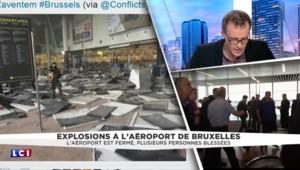 Explosions à Bruxelles : le comptoir de la compagnie American Airlines ravagé