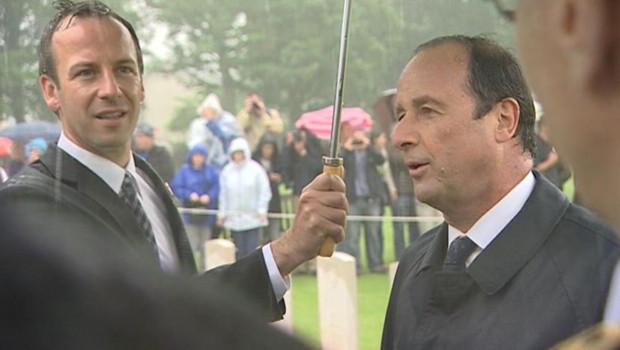 François Hollande lors de la commémoration du 68e anniversaire du débarquement en Normandie, le 6 juin 2012.