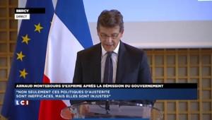 """Montebourg sur le remanienement : """"Il faut avoir le courage intellectuel et politique"""""""