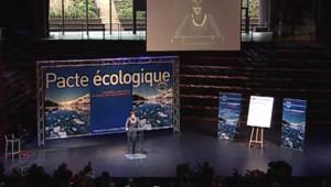 TF1/LCI Dominique Voynet lors de son intervention pour le Pacte écologique