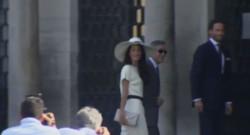 George Clooney et Amal Alamuddin à leur arrivée à la mairie de Venise pour leur mariage, 29/9/14