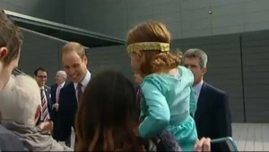 La petite fille qui refusait la bise du prince William