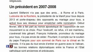 Le pape François bloquerait la candidature d'un ambassadeur supposé homosexuel