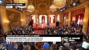 Hollande évoque la crise syrienne