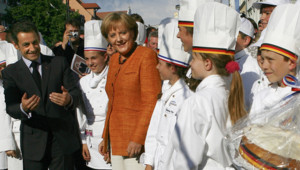 Nicolas Sarkozy et Angela Merkel