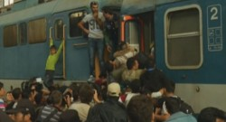 La gare de Budapest prise d'assaut par les migrants, le 03/09/15.