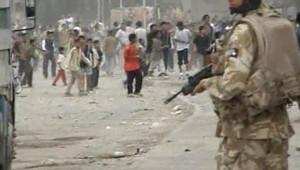 TF1/LCI : affrontements à Bassorah entre civils irakiens et soldats britanniques