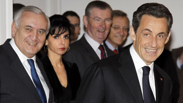 Nicolas Sarkozy et Jean-Pierre Raffarin en mars 2011