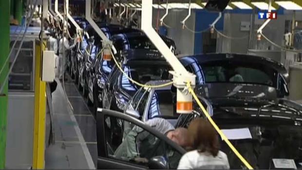 Usine de Peugeot PSA en France.