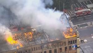 Feu - Brésil - Sao Paulo - incendie - pompier