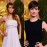 Jennifer Lawrence et Anne Hathaway au déjeuner des nommés aux Oscars 2013.