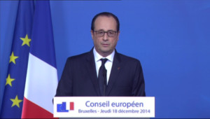 """Le 13 heures du 19 décembre 2014 : Hollande : travailler le dimanche, """"ça prend des droits à qui ? A personne"""" - 701.9255588684082"""