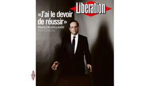 François Hollande en couverture de Libération