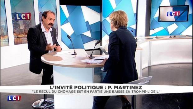 """Les grèves, un risque pour l'Euro ? """"Nous ne sommes pas responsables"""" souligne Martinez"""