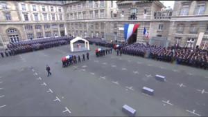 Le 20 heures du 13 janvier 2015 : Attentats : les temps forts de la cérémonie d'hommage aux policiers morts - 347.14300000000003