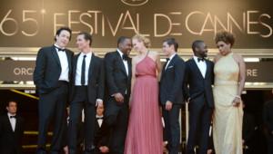 Nicole Kidman et l'équipe du film Paperboy en haut des marches Cannes 2012